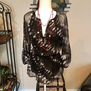 Larry Levine Blouse with Fitted Waist